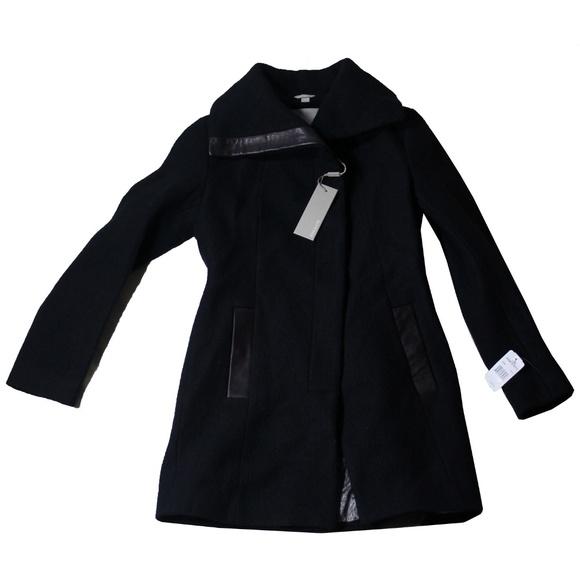 950b7175f SOIA & KYO Slim Fit Asymmetrical Wool Blend Coat NWT
